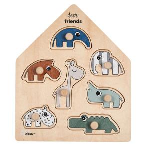 Done By Deer Puzzle Deer Friends 7 Stücke