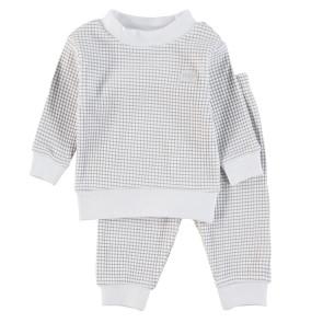 Feetje Pyjama Waffel Grau