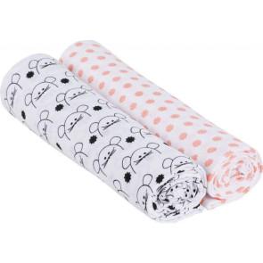 Laessig Hydrofiel Swaddle & Burp Blanket XL Little Chums Mouse 2St. 120x120 cm