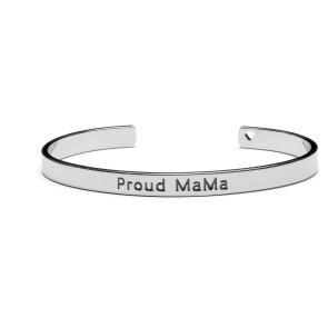 Proud MaMa Bangle Bracelet Silver