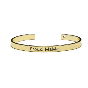 Proud MaMa Bangle Bracelet Gold