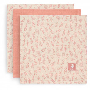 Jollein Hydrophilic Swaddle Small 70x70cm Meadow Rosewood (3pack)