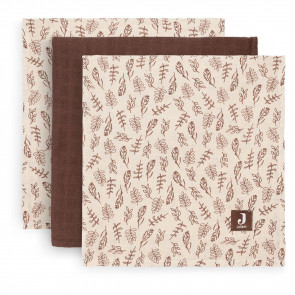 Jollein Hydrophilic Swaddle Small 70x70cm Meadow Chestnut (3pack)