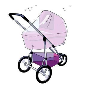 Babsana Universal Moskitonetz für Kinderwagen Weiß