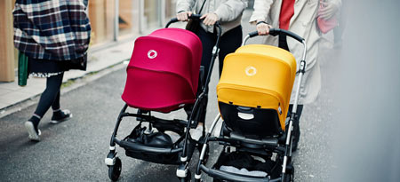 Bugaboo Bee is the ideal stroller for active parents in the city. Bugaboo strollers ship worldwide via Babycare.nl.
